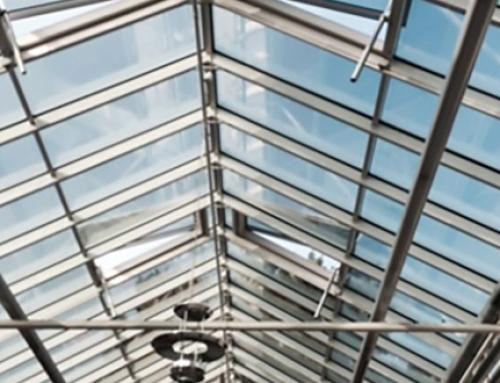 Attika Glasdach im Waldstadtcenter erneuert